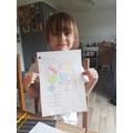 Emilia completing Last Friday's shape work