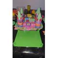 What a colourful castle