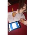 Evie-Rose practising her handwriting