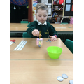 Brodie enjoyed trying to land on 'Gimel' to take all the coins in the pot.