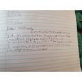 Lily's persuasive letter