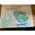 Kobi's labelled picture of Earth
