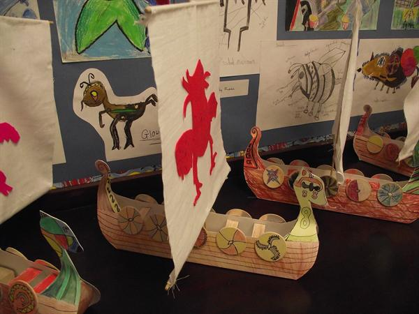 Viking Long ships by Silver Birch Y5