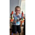 Klaudia made not 1 but 2 rockets!! Fabulous work Klaudia