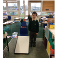 Mayson went the furthest 2m 20 cm.