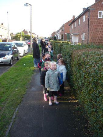 Class 1's wellie walk
