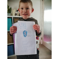 Dylan's maths challenge and labelled picture of Earth