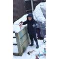 Zac is having fun in the snow