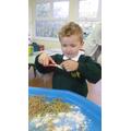 Practising our scissor skills