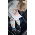 Alivia-Rose working hard
