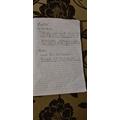 Klaudia's diary entry and Maths