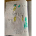 Kobi's drawing of brushing your teeth. A way to look after ourselves.