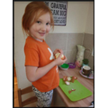 Charlotte been helping with the cooking