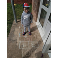 Liam created his hopscotch to celebrate VE day.