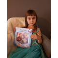 Emilia dressed for World Book Day