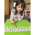 Georgia-Mae practising counting backwards!