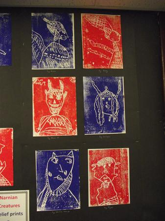 Relief prints of Narnian animals