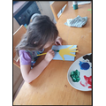 Lily designed and made a birthday card for her dad