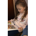 Evie-Rose reading to her mum- Well done Evie!