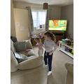 Poppy learning the dance