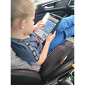 Alivia-Rose practicing her maths skills