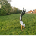 Marko doing a handstand