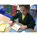 After we wrote our instructions we made cheese sandwiches