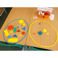 sorting and talking about shapes