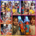 Lexie and Layah's very glittery rockets- fab job girls