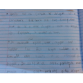 Ellie-Marie's writing is getting smaller.  Marvellous!