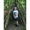 Andrew exploring Clanger Woods