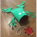 Ribbit!  Ribbit! What a marvelous frog puppet