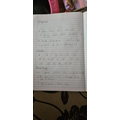 Klaudia's home learning and her instructions on how to make a cheese sandwich