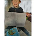 Dylan's home learning