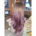 Octavia now has PURPLE hair!!