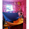 Leila building a den
