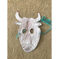 Eddie has made a fantastic minotaur mask!
