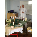 Fr. Joseph blessed all our new class candles.