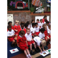 Nursery practicing there assembly.