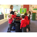 We had a go at recycling.
