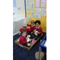 We are acting out stories in the role play.