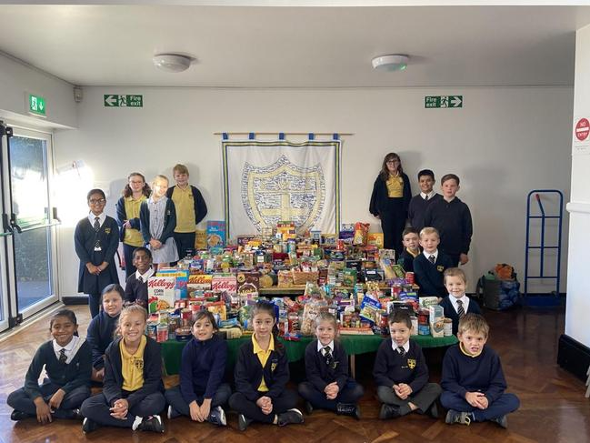 Well done to the School Council for organising a Food Bank collection!