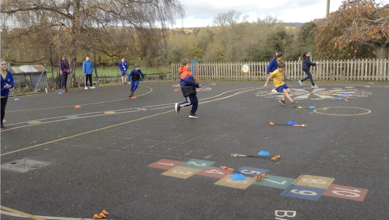 Team work - moving fast to hit the target.