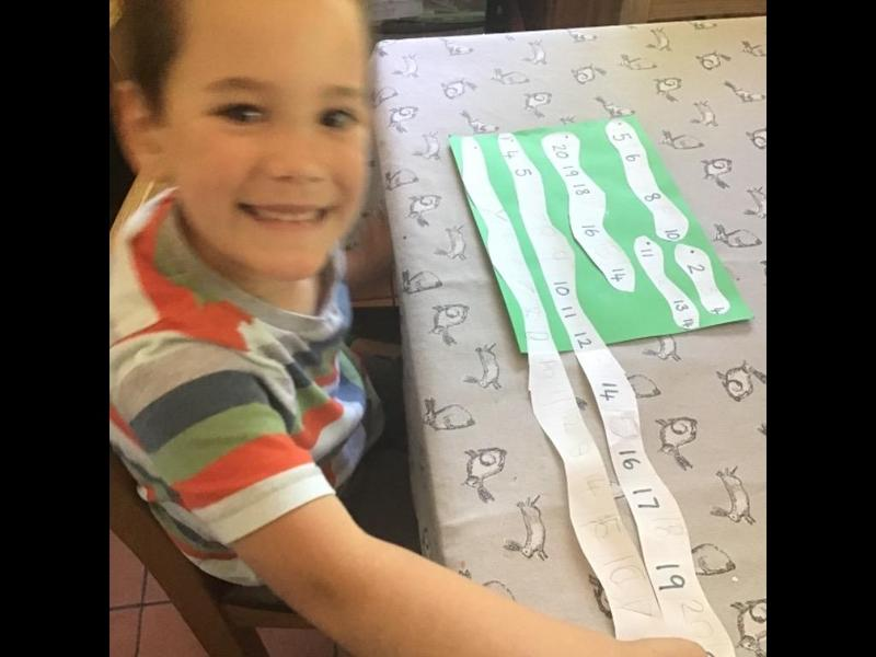 Superworm numberline: look how long it is!!