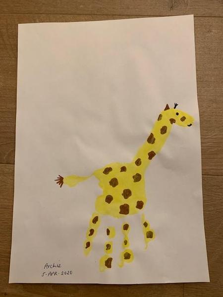 What a fabulous handprint giraffe Archie .