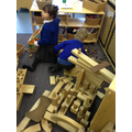 Creating imaginary worlds in the construction zone.