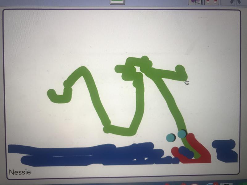 Riley drew a Lochness monster!