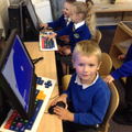 Investigating the computers - creating pictures on Paint.