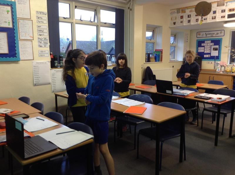 Measuring and recording pulse rate.