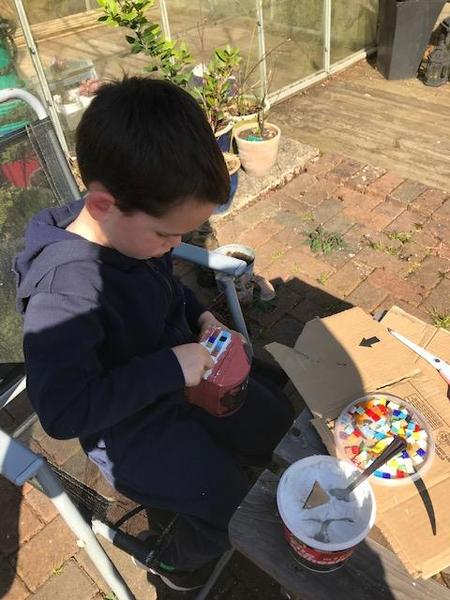 """Max making his """"Shine Box"""""""